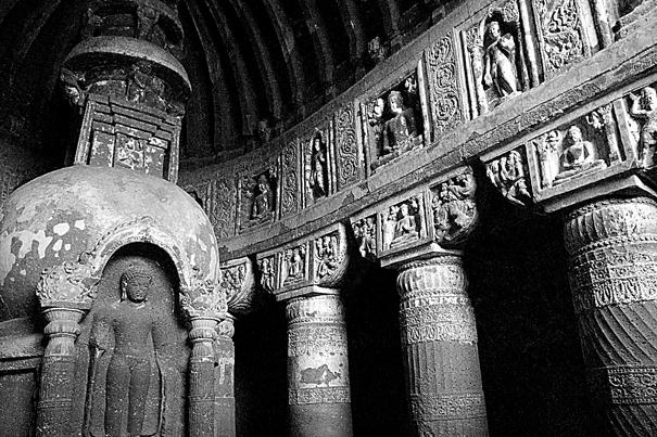 rock-cut temple in Ajanta