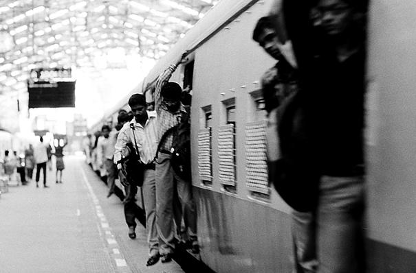 Passengers getting off