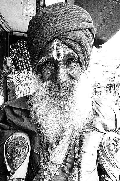 Sadhu With Bushy Beard @ India