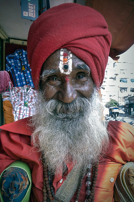 Sadhu With Bushy Beard (India)