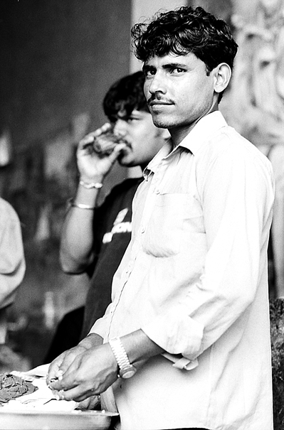 Men drinking Chai