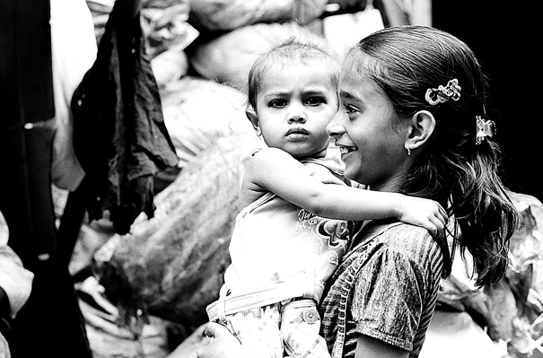 Girl And Baby @ India