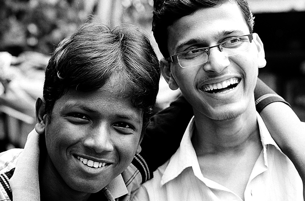Two Laughing Young Men (India)