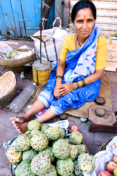 Woman Selling Artichokes (India)