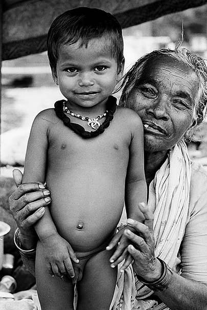 Stark-naked Boy And Grandma (India)
