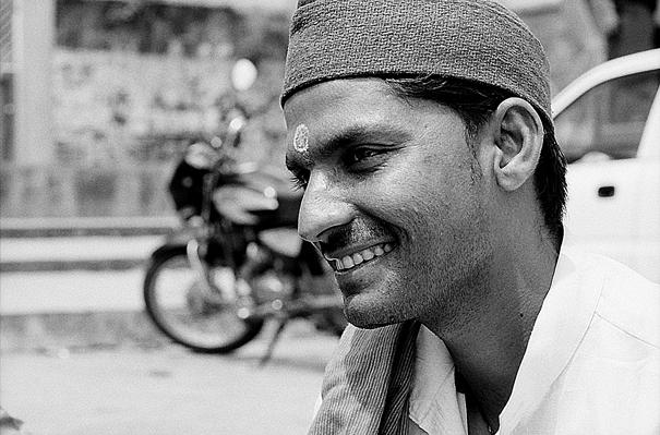 Man wearing big bindi