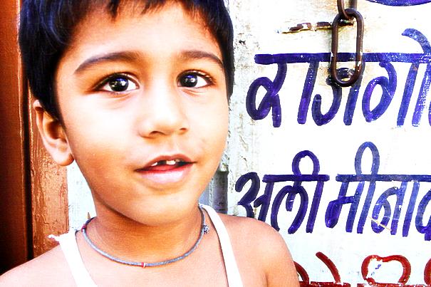 Boy with sparkling eyes