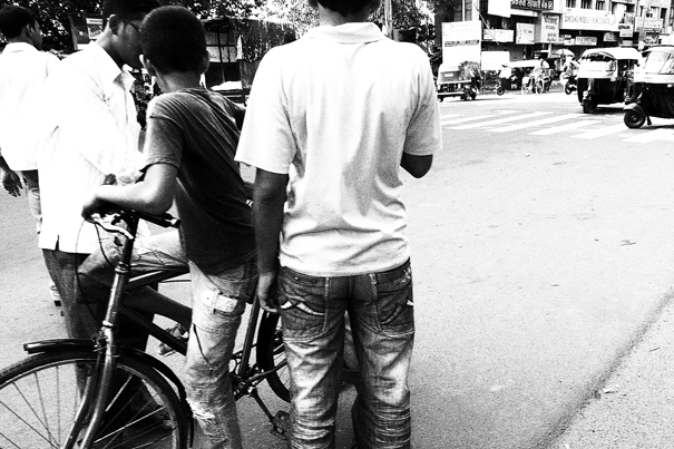 A Bicycle And Three Boys @ India