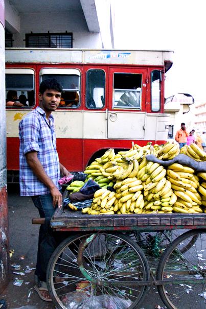 Man selling bananas
