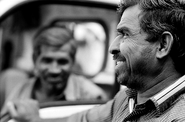 Laughing Man On The Driver's Seat (India)