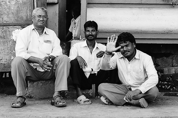 Three Men Were Now Chatting (India)