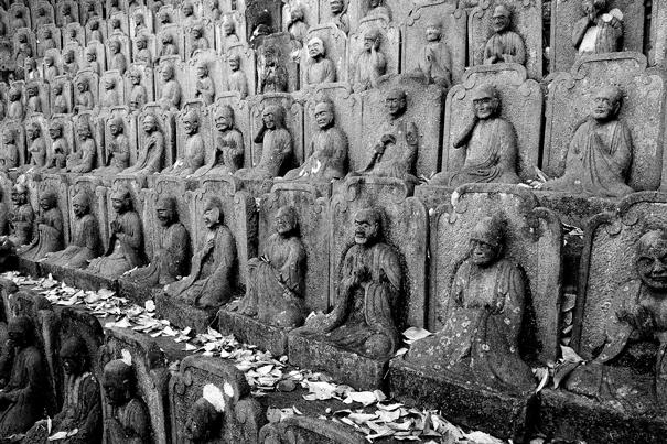 Statues Of Buddha In Daien-ji (Tokyo)