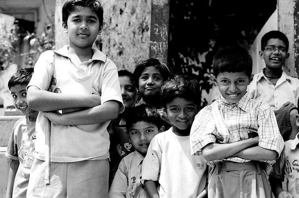 Many Kids Stood In Front Of Me (India)