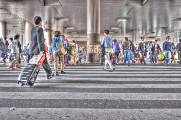 Crossing Near The Shibuya Station (Tokyo)