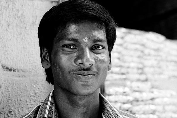 Bashful Man With A Bindi @ India