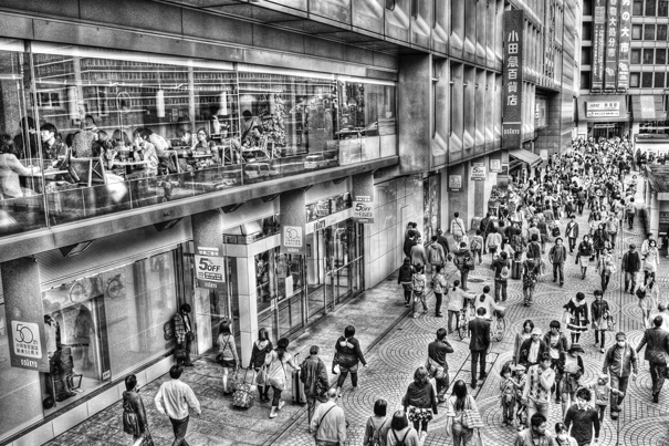 Pedestrians In The Crowded Street (Tokyo)