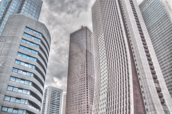 Skyscrapers In West Shinjuku (Tokyo)