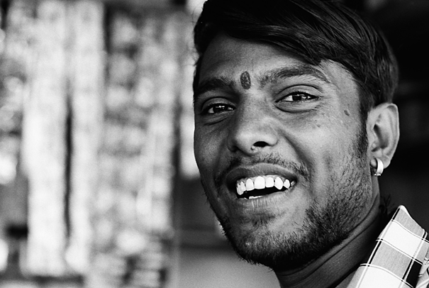 Laughing Man With A Bindi (India)