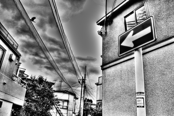 Arrow In The Residential Area @ Tokyo