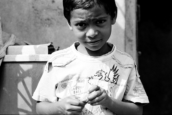 Boy Making A Grimace @ India