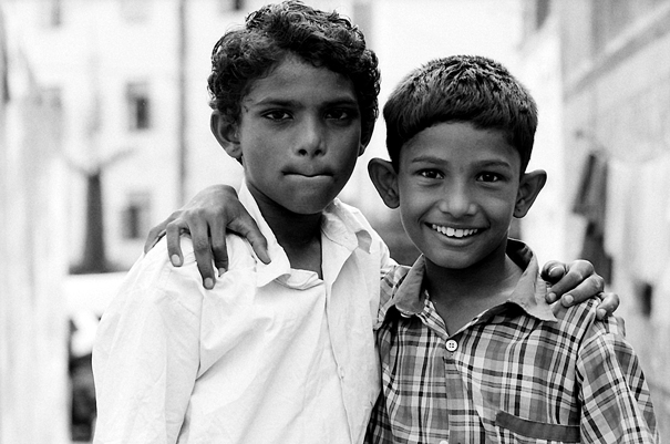 Two Boys Joining Shoulders (India)