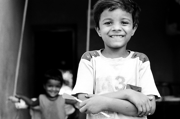 Bashful Boy With Folded Arms (India)