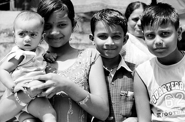 Kids And A Mother @ India