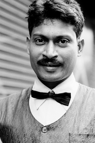 Man With A Butterfly Tie (India)
