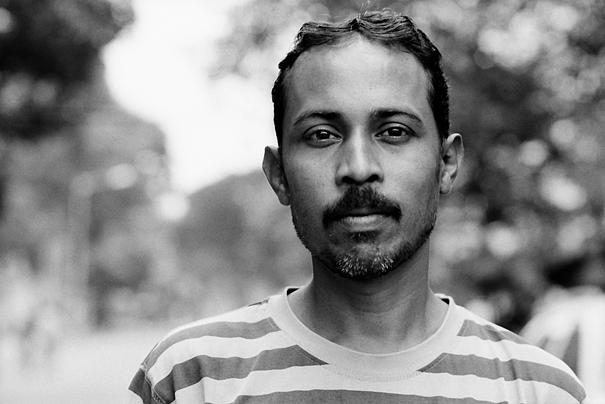 Mustache And Horizontal-striped Shirt (India)