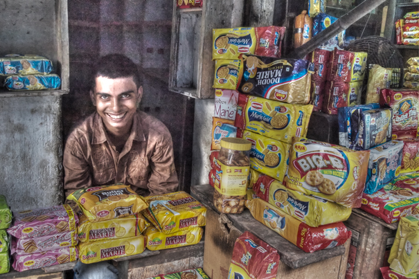 Man In The Heap Of Biscuits (India)