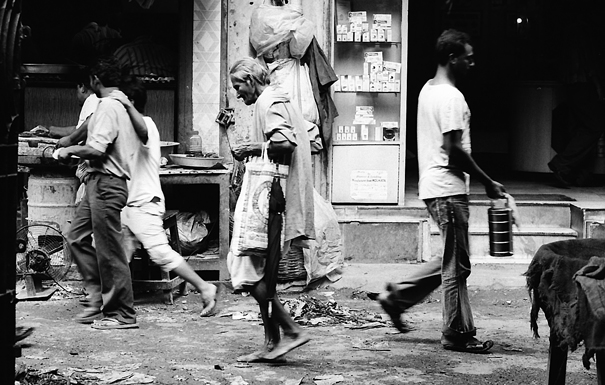 Sholess Man In The Alleyway (India)