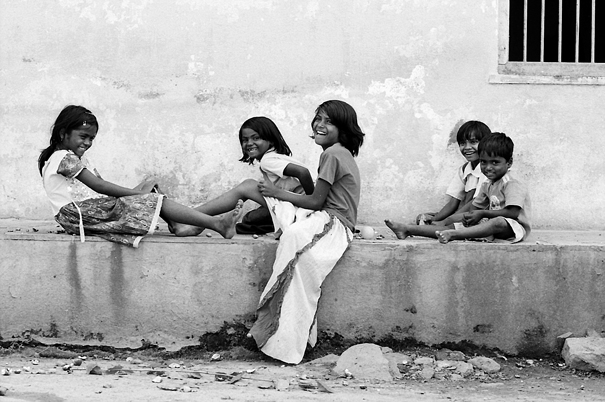 Children Playing By The Wayside (India)
