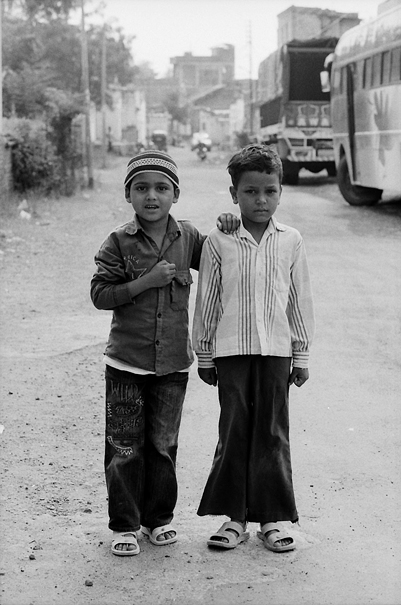 Two Boys With A Strained Look (India)