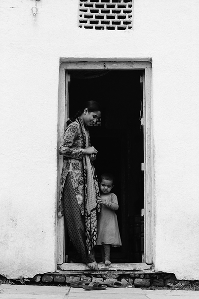 Mother And Her Shy Daughter @ India