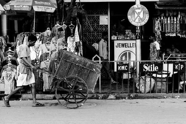 Two-wheeled Cart Was Moving (India)