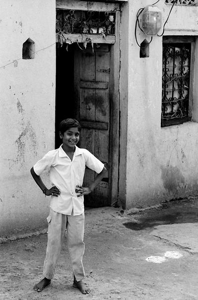 Smiling Shoeless Boy (India)
