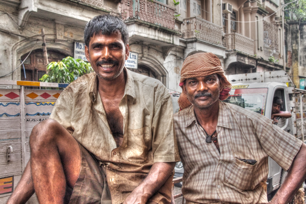 Two Workers On The Truck (India)