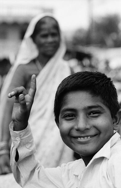 Boy Posed Cheerfully @ India