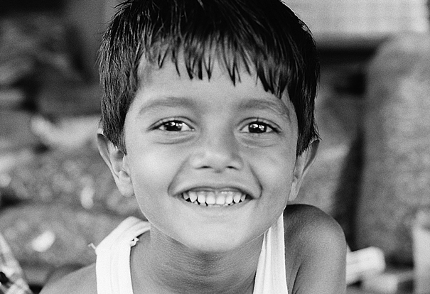 Smile of little boy