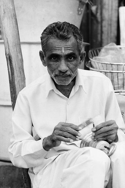 Inscribing Man With Frown Lines (India)