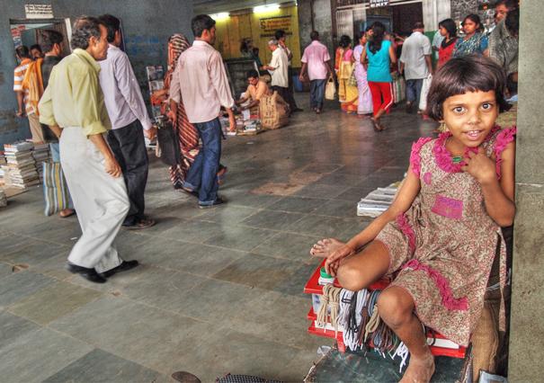 Girl In The Sealdah Station (India)