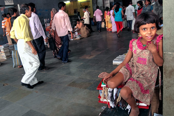 Girl In The Sealdah Station (India)