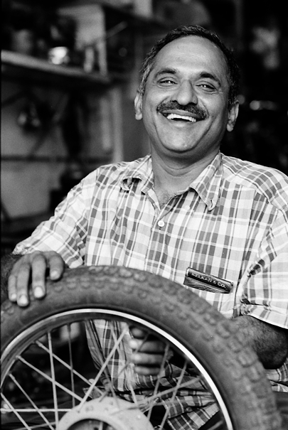 Tire, Man And Smile @ India