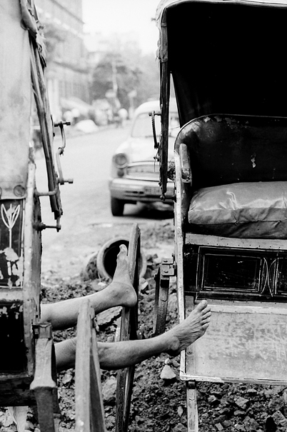 Legs of rickshaw wallah
