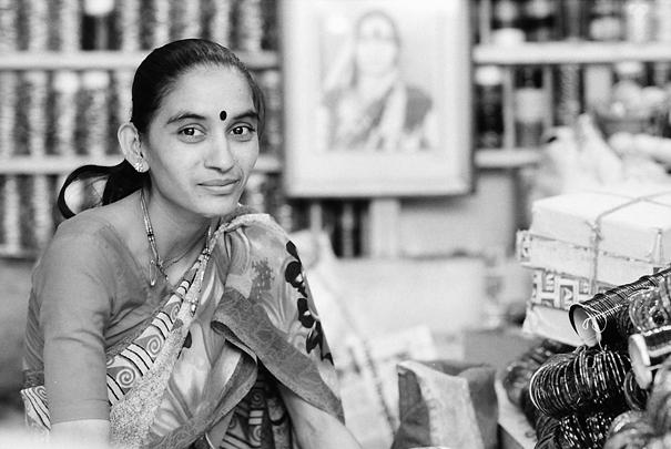 Woman wearing saree