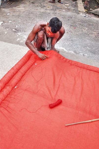 Big Red Cushion (India)