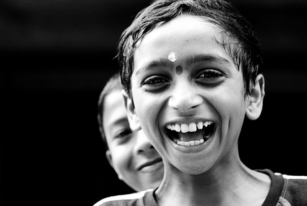 Laughing Boy With A Bindi (India)