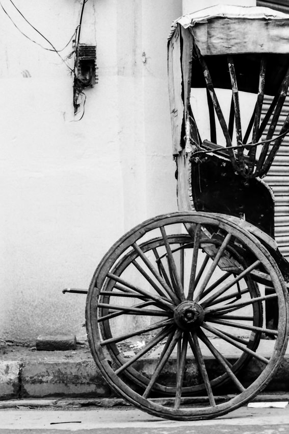 Wheel of rickshaw