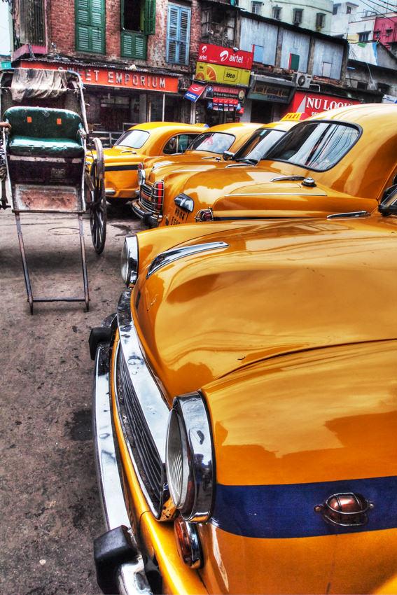 Taxi and rickshaw
