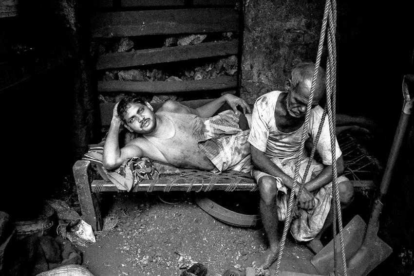 Men selling charcoal
